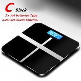 Timbangan Badan Digital Home Scale 180KG with Temperature Sensor - SC-16 - Black