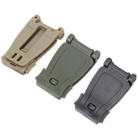 Buckle Clip Strap Backpack Webbing Connection Military 5 PCS - HW1099 - Black - 2