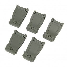 Buckle Clip Strap Backpack Webbing Connection Military 5 PCS - HW1099 - Black - 4