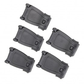 Buckle Clip Strap Backpack Webbing Connection Military 5 PCS - HW1099 - Black - 5