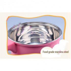 Panci Listrik Stainless Steel 1.6L 450W - Pink - 5