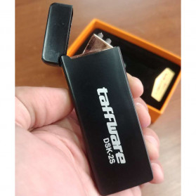 Taffware Korek Api Double Arc Pulse Plasma USB Lighter - DSK-2S - Black