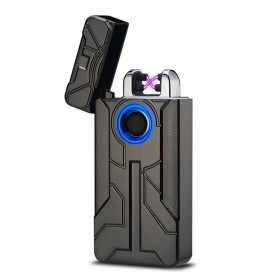 Korek Api Elektrik Iron Man Touch Pulse Plasma USB Lighter - HY-7030 - Black