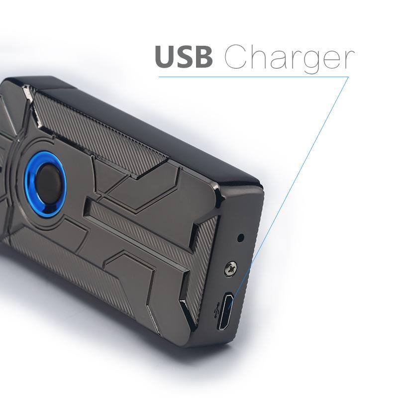 Korek Api Elektrik Iron Man Touch Pulse Plasma USB Lighter ...