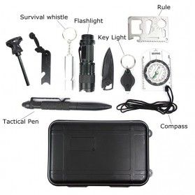 Peralatan Survival Multifungsi 9 in 1 - SOS - Black - 2