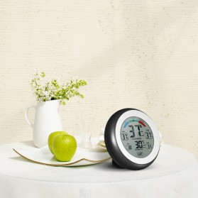 Meterk Digital Thermometer Hygrometer Min Max Value - CJ-3305F - Black - 3