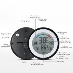 Meterk Digital Thermometer Hygrometer Min Max Value - CJ-3305F - Black - 6