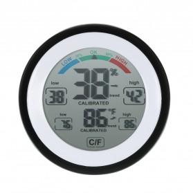 Meterk Digital Thermometer Hygrometer Min Max Value - CJ-3305F - Black - 7