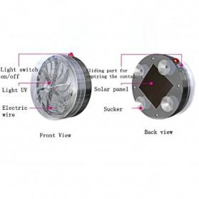 Lampu UV Pembasmi Nyamuk Mosquito Killer Solar Powered - A0227 - Gray - 2