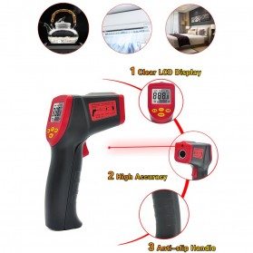 Digital Infrared Laser IR Thermometer - A350 - Black