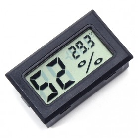 Digital Thermometer Hygrometer Humidity Built-In Probe - SD583 - Black