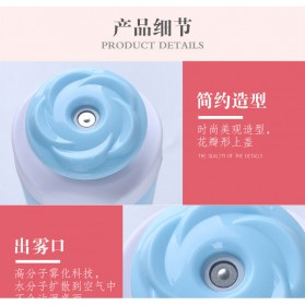 Taffware USB Air Humidifier Aromatherapy Oil Diffuser Mobil Flower Style 250ml - HUMI MX-001 - Blue - 6