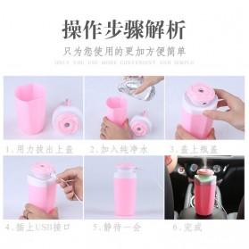 Taffware USB Humidifier Mobil Flower Style 250ml - HUMI MX-001 - Blue - 8