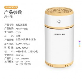Taffware Air Humidifier Aromatherapy Night Pull Out Retractable 200ml with Night Light - HUMI H13 - Blue - 10