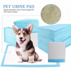 Matras Latihan Kencing Urine Anjing Kucing Training Pee Pads 100PCS Size S - Blue