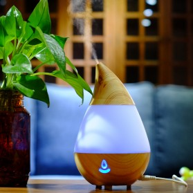 Taffware Air Humidifier Aromatherapy Oil Diffuser Wood Design 235ml - HUMI AJ-215 - Brown - 2