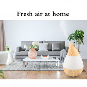 Taffware Air Humidifier Aromatherapy Oil Diffuser Wood Design 235ml - HUMI AJ-215 - Brown - 7