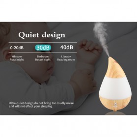 Taffware Air Humidifier Aromatherapy Oil Diffuser Wood Design 235ml - HUMI AJ-215 - Brown - 8