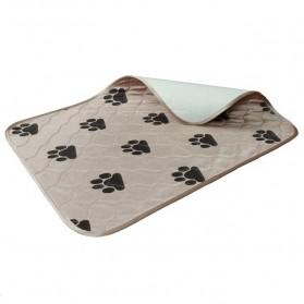 Matras Latihan Kencing Urine Anjing Kucing Training Pee Pads Reusable - Brown