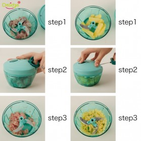 Blender Manual Pemotong Daging Bawang Buah dan Sayuran - Green - 7