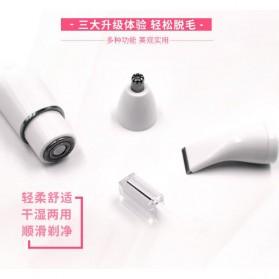 Electric Shaver Alat Cukur Bulu Halus Elektrik 4 in 1 - White - 3