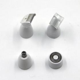 Electric Shaver Alat Cukur Bulu Halus Elektrik 4 in 1 - White - 8