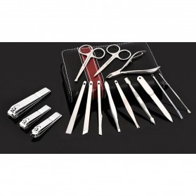 Nail Art Set Manicure Pedicure Grooming Kit 15 in 1 - 50041201 - Black