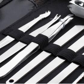 Nail Art Set Manicure Pedicure + Pouch 15 in 1 - KM-TV016 - Black - 3