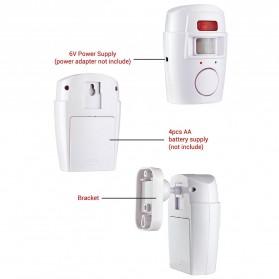 EMASTIFF Alarm Anti Maling Infrared PIR Sensor Gerak 2 Remote - YL105 - White - 3