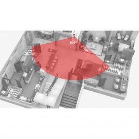 EMASTIFF Alarm Anti Maling Infrared PIR Sensor Gerak 2 Remote - YL105 - White - 4