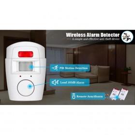 EMASTIFF Alarm Anti Maling Infrared PIR Sensor Gerak 2 Remote - YL105 - White - 9