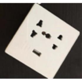 Stop Kontak Universal UK EU US with 1 Port USB - SZ46503 - White - 2
