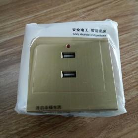 Stop Kontak Dinding 2 Port USB Wall Socket 3500MA - ES-USB-2 - Golden - 3