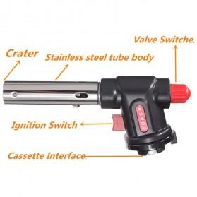 Firetric Kepala Gas Butane Multi Purpose Torch 1300 Celcius - WS-504C - Black - 5