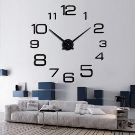 Jam Dinding Besar DIY Giant Wall Clock Quartz Creative Design 90cm Model Numeral - DIY-108 - Silver - 3
