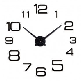 Jam Dinding Besar DIY Giant Wall Clock Quartz Creative Design 90cm Model Numeral - DIY-108 - Black