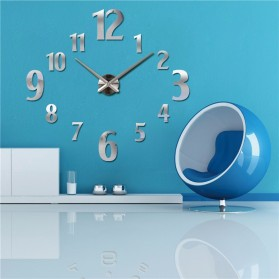 Taffware Jam Dinding Besar DIY Giant Wall Clock Quartz Creative Design 100cm Model Number - DIY-107 - Silver