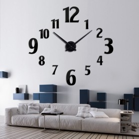 Taffware Jam Dinding Besar DIY Giant Wall Clock Quartz Creative Design 100cm Model Number - DIY-107 - Black