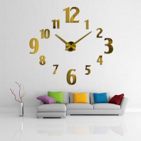 Taffware Jam Dinding Besar DIY Giant Wall Clock Quartz Creative Design 100cm Model Number - DIY-107 - Black - 2