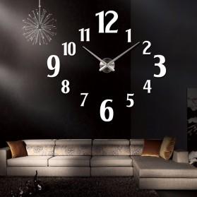 Taffware Jam Dinding Besar DIY Giant Wall Clock Quartz Creative Design 100cm Model Number - DIY-107 - Black - 3