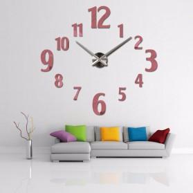 Taffware Jam Dinding Besar DIY Giant Wall Clock Quartz Creative Design 100cm Model Number - DIY-107 - Black - 4