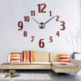 Taffware Jam Dinding Besar DIY Giant Wall Clock Quartz Creative Design 100cm Model Number - DIY-107 - Black - 5