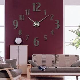 Taffware Jam Dinding Besar DIY Giant Wall Clock Quartz Creative Design 100cm Model Number - DIY-107 - Black - 6