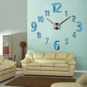 Taffware Jam Dinding Besar DIY Giant Wall Clock Quartz Creative Design 100cm Model Number - DIY-107 - Black - 7