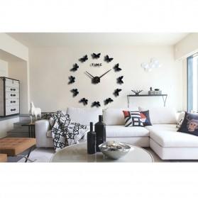 Jam Dinding Besar DIY Giant Wall Clock Quartz Creative Design 120cm Model Butterfly - DIY-205 - Black - 4