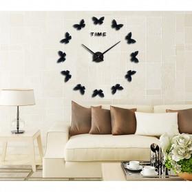 Jam Dinding Besar DIY Giant Wall Clock Quartz Creative Design 120cm Model Butterfly - DIY-205 - Black - 5