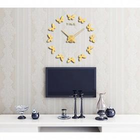 Jam Dinding Besar DIY Giant Wall Clock Quartz Creative Design 120cm Model Butterfly - DIY-205 - Black - 6