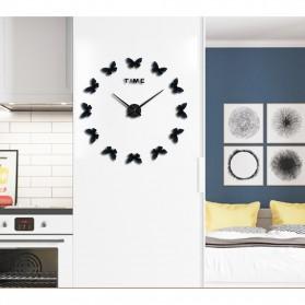Jam Dinding Besar DIY Giant Wall Clock Quartz Creative Design 120cm Model Butterfly - DIY-205 - Black - 7