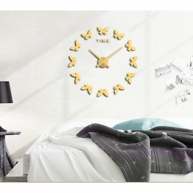 Jam Dinding Besar DIY Giant Wall Clock Quartz Creative Design 120cm Model Butterfly - DIY-205 - Black - 8