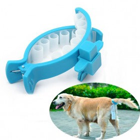 Kantong Piqapoo Kotoran Anjing Poop Bag Big Size with Tail Clip - Blue
